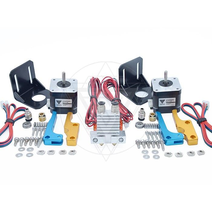 Kit de mise à niveau à double buse pour imprimante 3D TEVO tarantula tête d'impression à double tête d'extrusion en métal