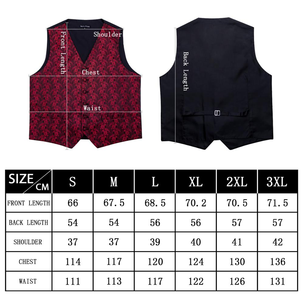 Barry.Wang Designer Mens Fahsion Blue Paisley Jacquard Woven 100% Silk Waistcoat Vests Handkerchief Tie Vest Suit Cufflinks Set