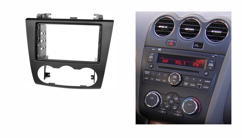 double din fascia for nissan altima 2006 2012 radio dvd. Black Bedroom Furniture Sets. Home Design Ideas