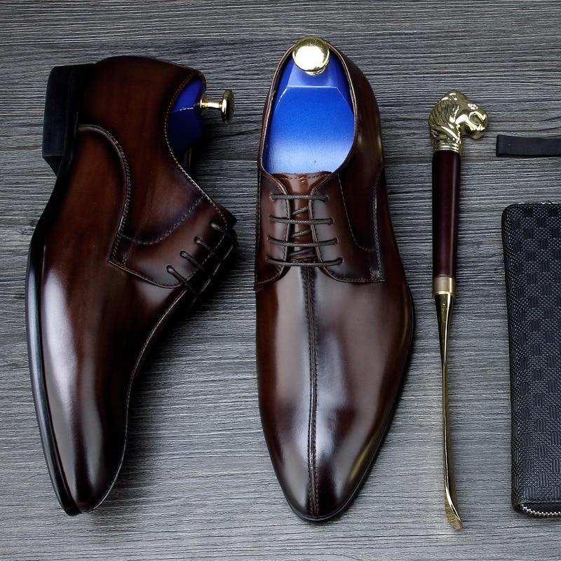 Pour Mycolen En Verni Hommes Nouveau Populaire brown Tenis Black Automne Gentry Derby Mode Cuir Chaussures Printemps pMVSUz