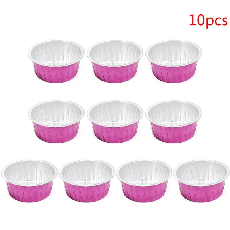 10pcs/3PCS Blue Zoo Hard Wax Beans Bowl 80g Capacity Cute Rose Red Color Round Shape Aluminum Foil Wax Melting Bowl
