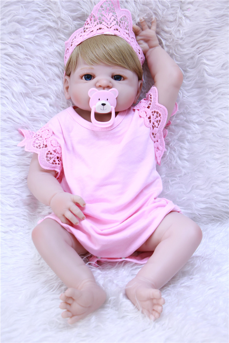 57cm Full body silicone reborn baby doll toys lifelike adorable collectible doll bebe toddlers Xmas gifts bathe toy kids bonecas57cm Full body silicone reborn baby doll toys lifelike adorable collectible doll bebe toddlers Xmas gifts bathe toy kids bonecas