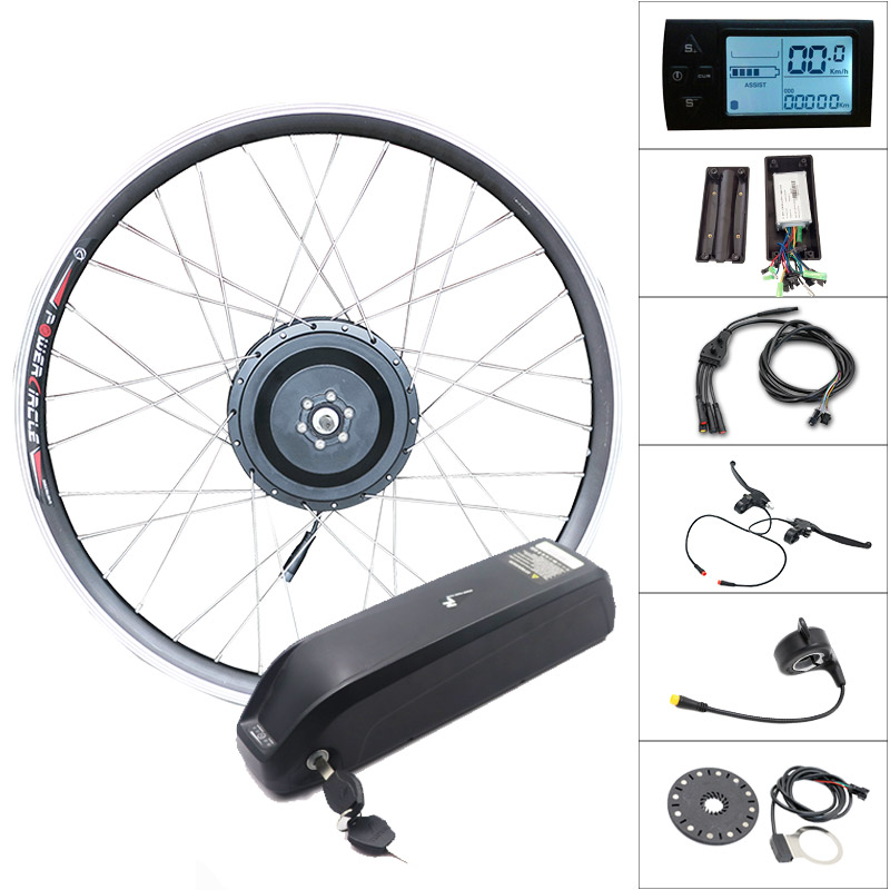 36v 250w/350w/500w Motor Wheel 36V SAMSUNG Ebike Kit Front Wheel Motor Electric Bicycle Conversion Kit For 20inch-700C Hub Motor