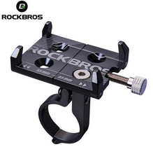 ROCKBROS Cycling Bicycle Phone Holder MTB Road Bike Handlebar Stand Adjustable Telephone Bracket 3.5-6.2inch Smartphone