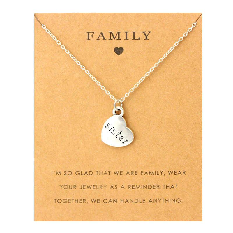 Ciotka siostra wujek łańcuszek z wisiorkiem naszyjniki babcia dziadek rodzina mama córka ojciec tata tata brat syn moda biżuteria miłość prezent