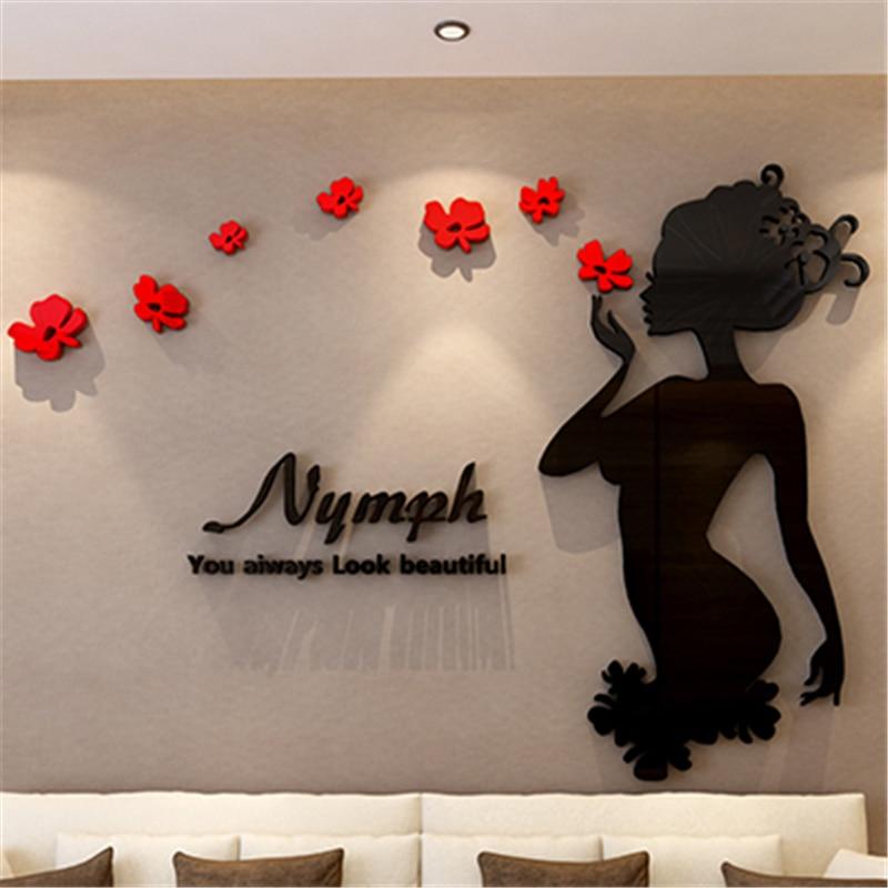 2016 Creative Nymphet 3d Acrylic CrystalTV backdrop wall ...