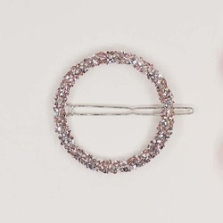 1pcs Shining Alloy Hairpin Round Diamond Hair Clip Fashion Pink Drill Gift New Hair Accessories hair clips for women