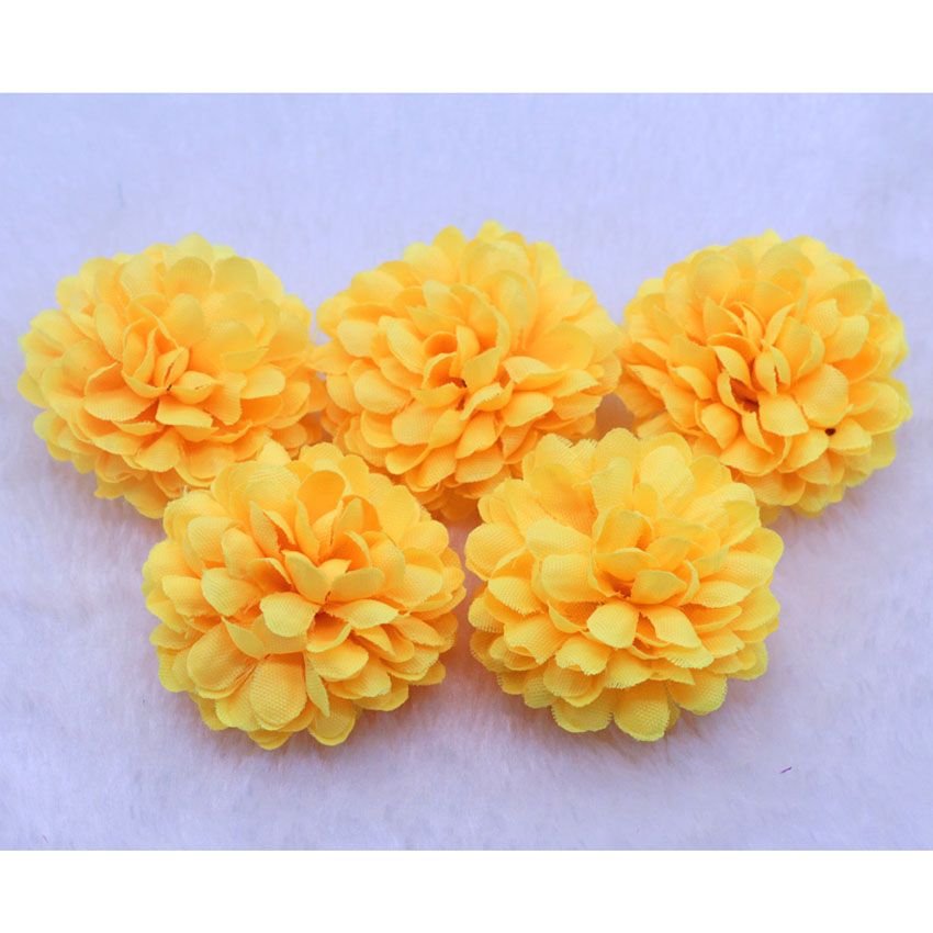 Wholesale 50pcslot small ball daisy artificial silk flowers heads wholesale 50pcslot small ball daisy artificial silk flowers heads wedding party diy decor orange size 5x5cm in artificial dried flowers from home mightylinksfo Image collections