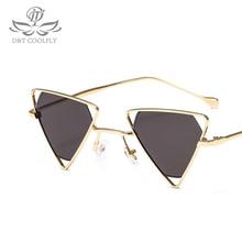 2019 Fashion Triangular Sunglasses Women Famous Brand Luxury Designer Vintage Trendy White Black Glasses UV400