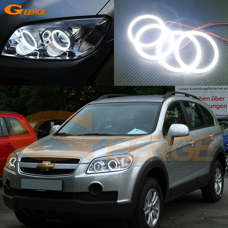 For Chevrolet Captiva S3X 2006 2007 2008 2009 2010 Excellent smd led Angel Eyes kit Ultra bright illumination Halo Ring