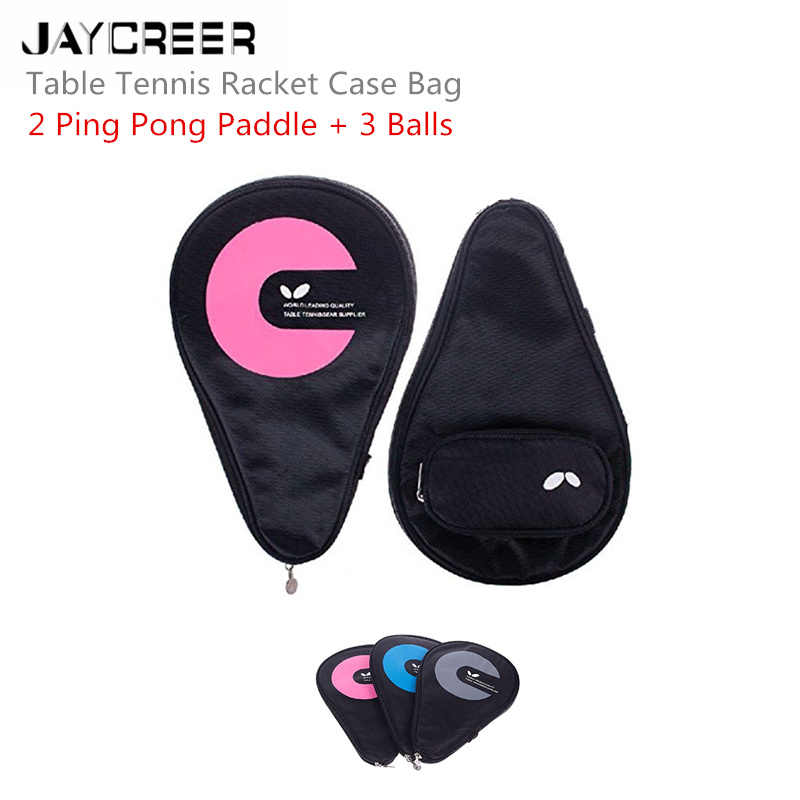 JayCreer Table Tennis Ping Pong Bag Case Pouch Pockets Capacity:6L Size: LXWXH(30X2.5X19CM) Waterproof And Abrasion Resistance
