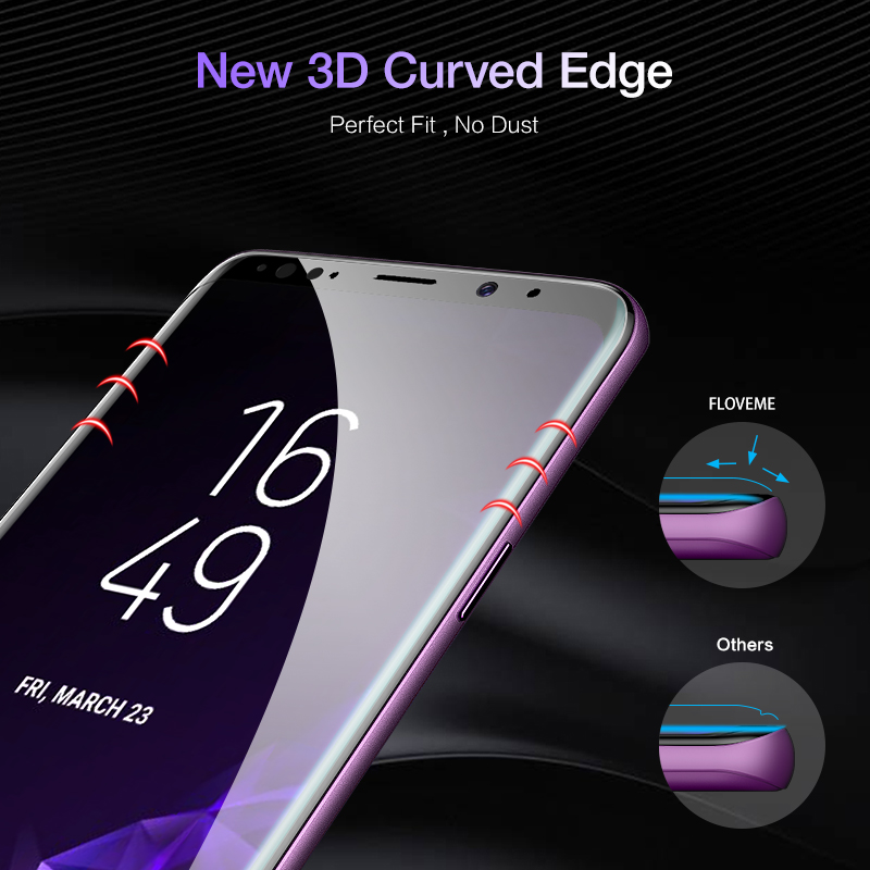 Image 3 - FLOVEME Full Cover Screen Protector for Samsung Galaxy S10 S8 S9 S10 Plus S10e Note 8 9 3D Curved Soft Protective Film Not Glass-in Phone Screen Protectors from Cellphones & Telecommunications on