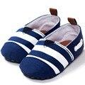 Темно ребенка свободного покроя обувь принцесса prewalker обувь мягкой подошвой полосатые обувь детская отдыха первые ходоки холст малыша обуви W1