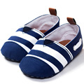 Navy Baby Casual Shoes princess prewalker shoes soft sole striped shoes infant leisure first walkers canvas toddler shoes W1