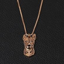 shunyun Dog Pets Hollow Unisex Long Chain Trendy Women Men Statement Jewelry Animal Pendant Necklace Collier