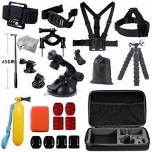 Sjcamอุปกรณ์ชุดที่มีselfieติดกล้องกระเป๋าหน้าอกm ountสำหรับSjcam SJ4000 SJ5000X SJ6ตำนานSJ7ดาวeken h9r actioncเวบแคม