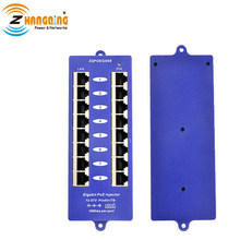 802.3af PoE Patch Panel 1000Mnps di Rete PoE injector Modalità B di Sicurezza Gigabit 8Port PoE Iniettore Uso con qualsiasi switch Ethernet(China)