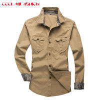 CooLMiFashion 2017 Shirts Men New Arrival Spring Autumn Features Casual Jeans Shirt Long Sleeve Casual Slim