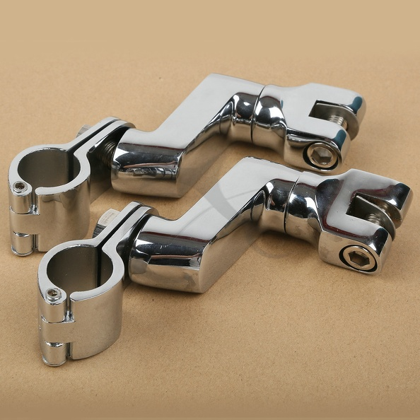 25mm Universal Front Bowleg Foot Pegs Clamps For Honda GL1800 GL 1800 2001-2012