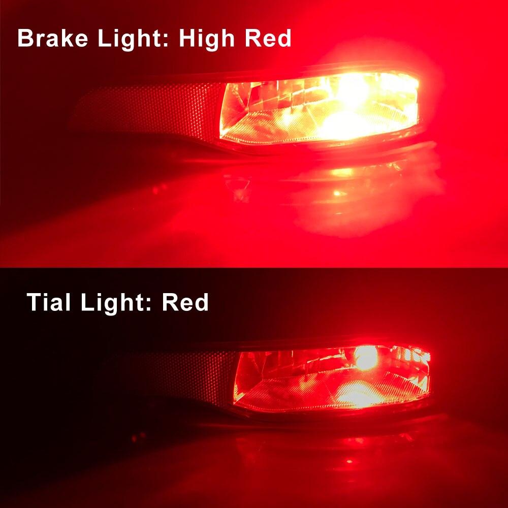 Wirings For 14-up Cherokee Foglamp Assy LED Rear Fog Light Kit w//Red LED Bulbs