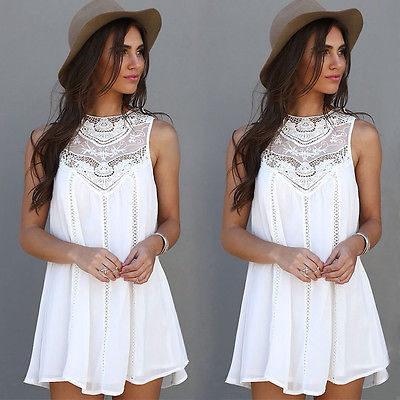 Women Sexy Summer Casual Sleeveless Party Beach Short Mini  Blouses Shirts