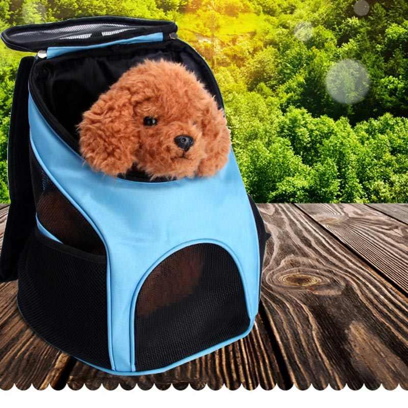 Переносная сумка для домашних животных, кошек, собак, Воздухопроницаемая сетчатая уличная дорожная сумка для домашних животных, двойной рюкзак для маленьких собак, животных