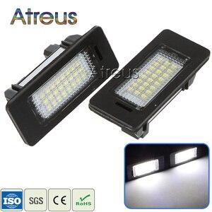 Atreus Car LED License Plate Light For BMW E39 E60 M5 E90 E82 E88 E92 E93 E70 X5 E71 E72 X6 No error white SMD Lamp Bulb kit 12V