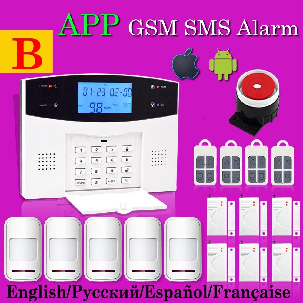 Alarm Systems Security Home,  PSTN & GSM Alarm System, Wireless 433MHz , For Home Burglar Alarm, 120dB Voice, Keyboard, wireless gsm alarm system for home wireless security alarm system with door sensor pstn alarm systems security