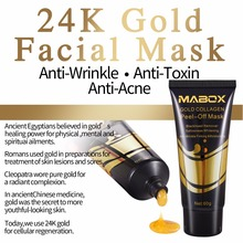 24k Gold Face Mask for Anti-Aging Anti Wrinkle Facial Pore Minimizer, Treatment of Acne Scars and Comedones
