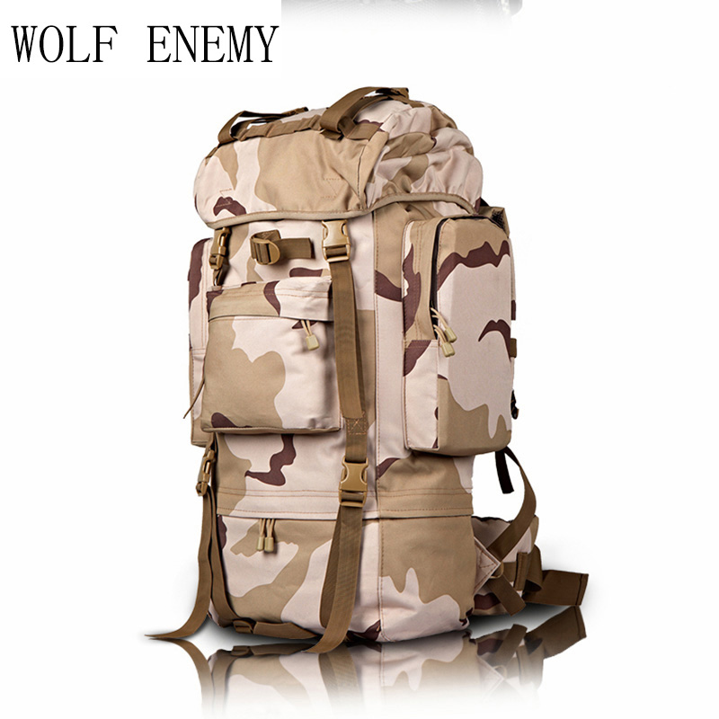 Hot Sale Roomy Storage Durable Waterproof Oxford Outdoor Hunting Camping Rain Cover Climbing Military Backpack Tactical 70L military tactical multifunctional waterproof shockproof watch durable outdoor climbing running men wristwatch stopwatch