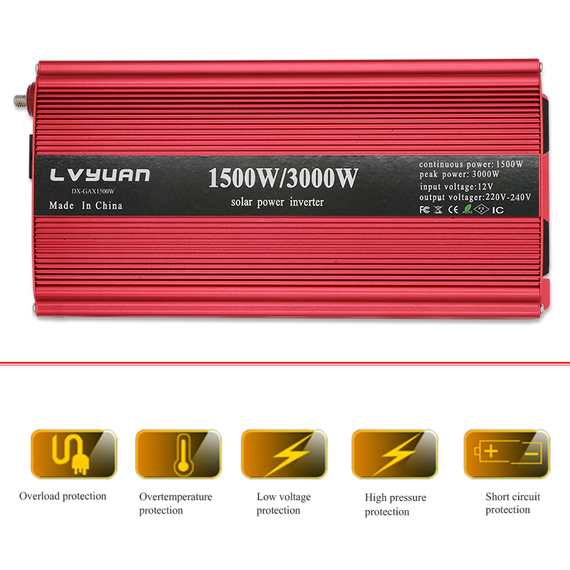 Dual USB 3000W 3000 Watt Portable Car Power Inverter Charger Converter Adapter DC 12V 24V to