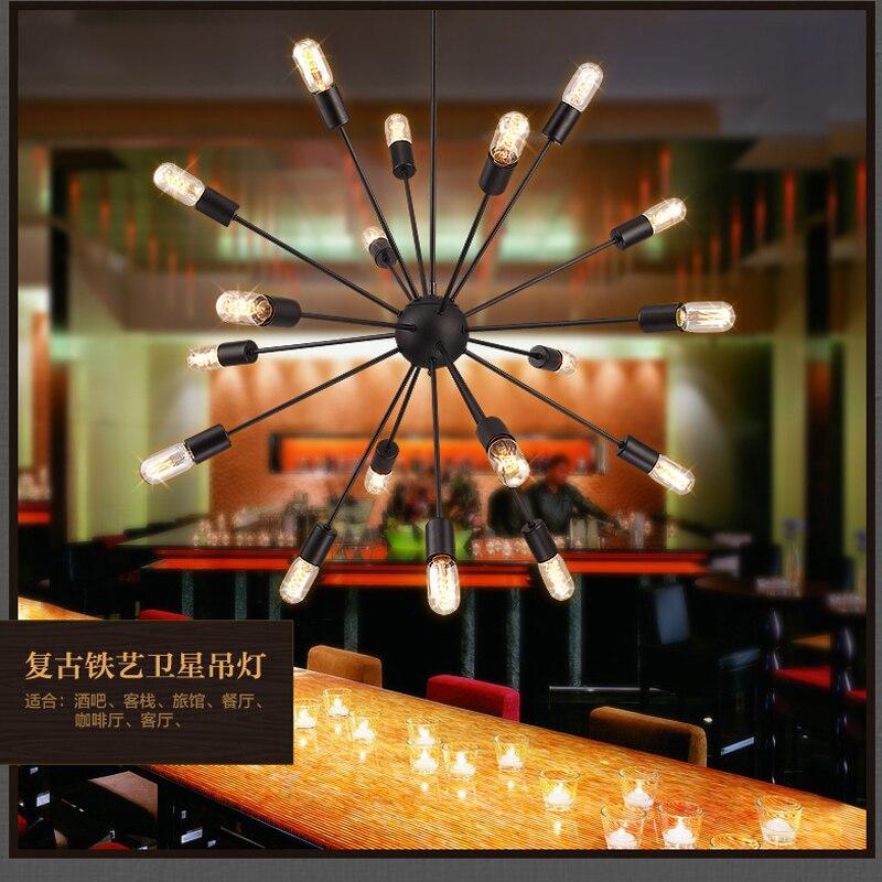 Retro podkroví LED stropní světla pro obývací pokoj ložnice jídelna Cafe sun Stropní lampy kreativní osobnost pro obývací pokoj