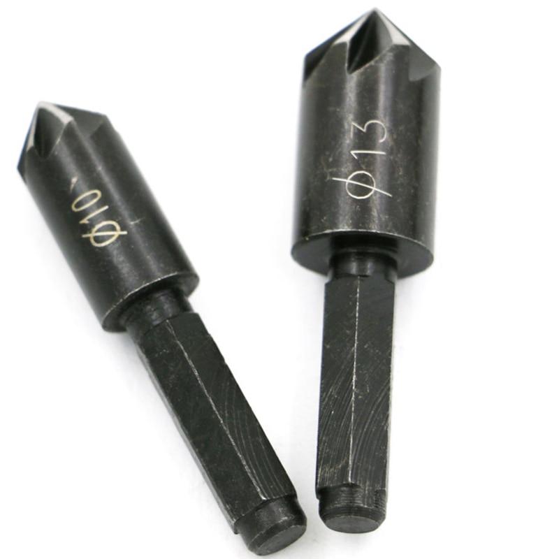 2db hss Chamfer Cutter hatszögű süllyesztett mini fúrókészlet famegmunkáláshoz dremel fafúró marcenaria ferramentas