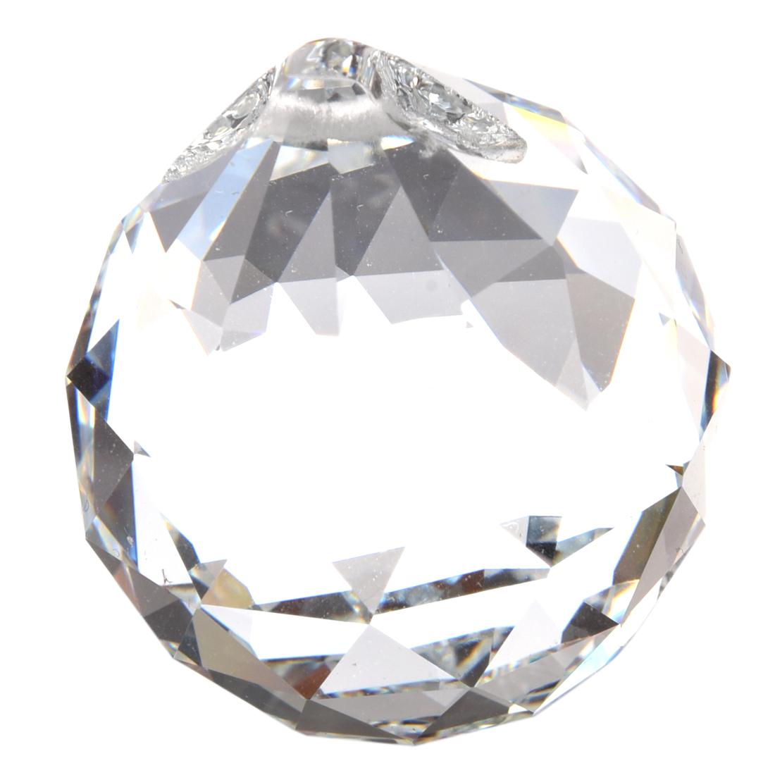 Sale 40 Mm Feng Shui Faceted Decorating Crystal Ball (Clear)