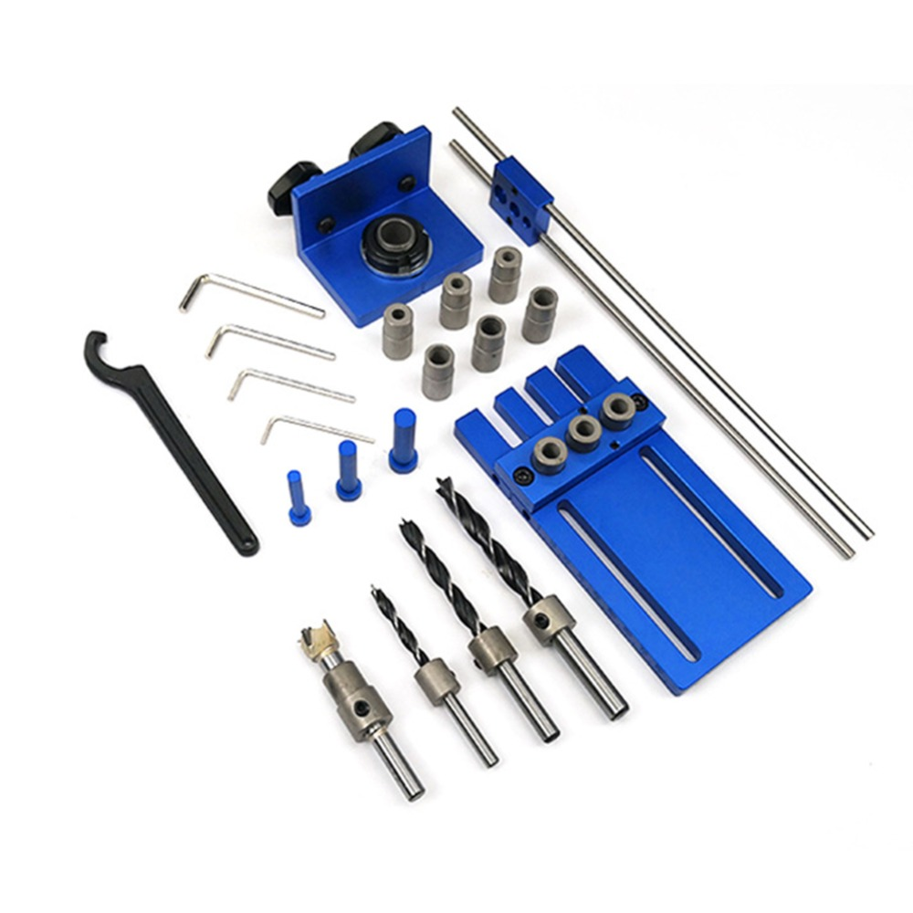 Woodworking Tool Drilling Locator DIY Joinery High Precision Dowel Jigs Kit 3 in 1 Wood Dowel