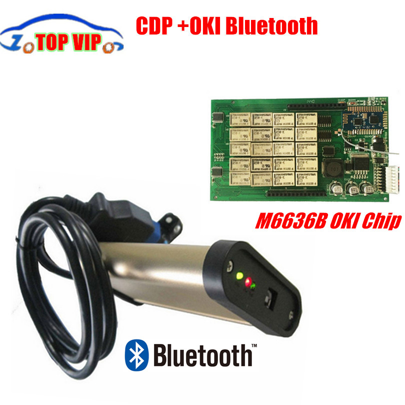 2pcs /lot Newest V2013.03 OBD2 Scanner TCS CDP PRO Auto Diagnostic Tool Com With Bluetooth CDP OKI Chip ( M6636B OKI Chip ) oki oki c9655dn