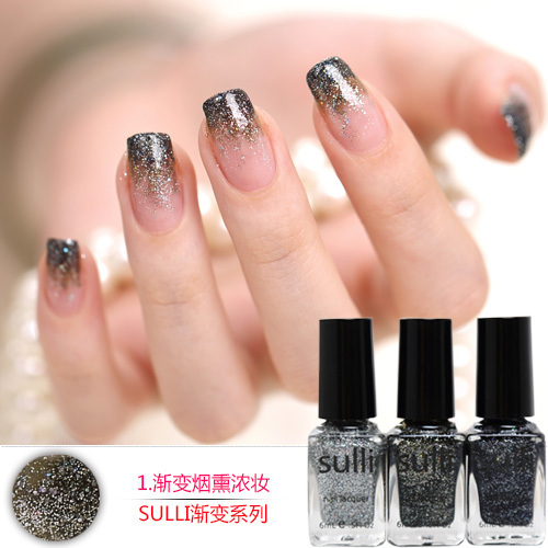 FULL shipping sulli new generation of environmentally friendly natural gradient sequins nail polish set to send a package to buy