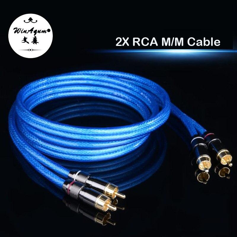 WinAqum Professionelle Vergoldet Duel RCA Digitalen Koaxial-audiokabel 2x RCA M/M Plug Coax Adapter Video Draht 2RCA L422
