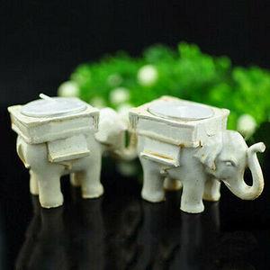 Image 4 - Ретро подсвечник в виде слона для чая, Керамический Свадебный домашний декор цвета слоновой кости
