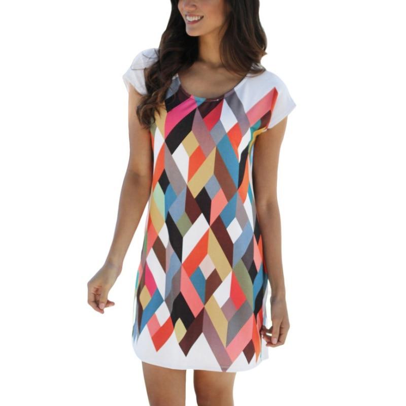 2017 camisa de la impresión ocasional de las mujeres dress spring & summer dress