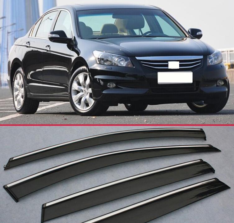 For Honda Accord 2008-2013 Window Wind Deflector Visor Rain Sun Guard Vent 9dc598d402c
