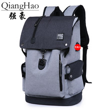 QiangHao brand Large Capacity Man Travel Bag Mountaineering Backpack Men Bags Canvas Bucket Shoulder Backpack(China)