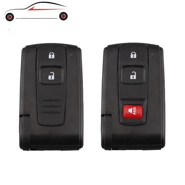 GORBIN 2 botones remoto llave de coche para Toyota Prius 2004, 2005, 2006, 2007, 2008, 2009 Toy43 sin cortar hoja