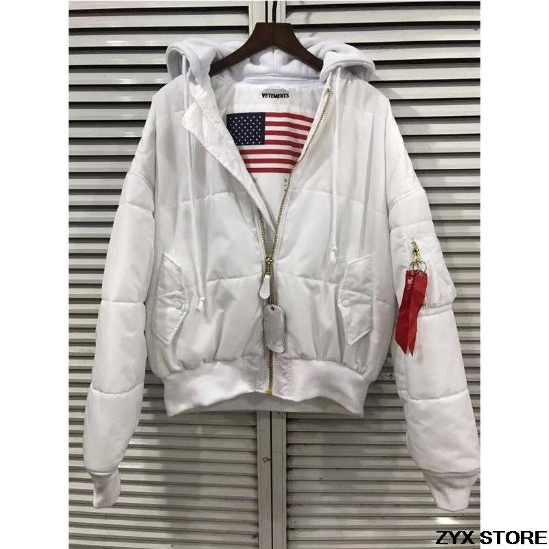 2017 meilleure Version Vetements femmes hommes Ma1 Bomber vestes manteau Vetements surdimensionné Kanye épais hiver Ma1 veste réversible