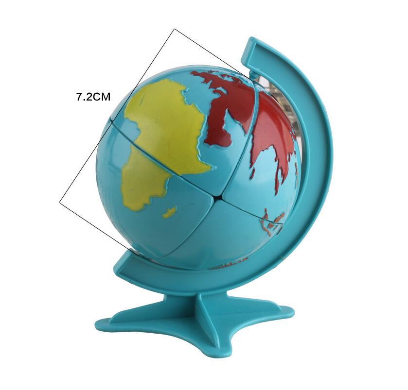 Blue earth globe puzzle cube Classic Toys Cube 2 2 2 Block Puzzle Speed Magic Cube