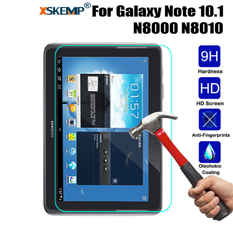 XSKEMP Tempered Glass Screen Protector For Samsung Galaxy Note 10.1 N8000 GT-N5110 P5200 Tab 3 Lite T210 T230 T310 Tablet Film angibabe tempered glass anti shatter screen protector for samsung galaxy tab 3 lite t111