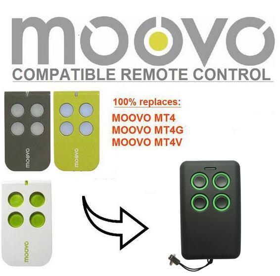 Moovo Mt4mt4gmt4v Garage Door Replacement Remote Rolling Code Free