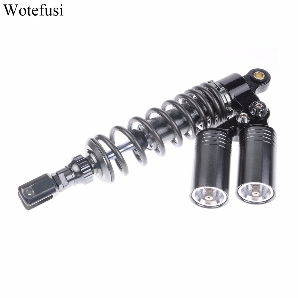 цена на Wotefusi Motorcycle One Piece 320mm Fork Clevis Ends Dual Double Air Gas Shock Absorber Replacement Universal For Honda [PA358]