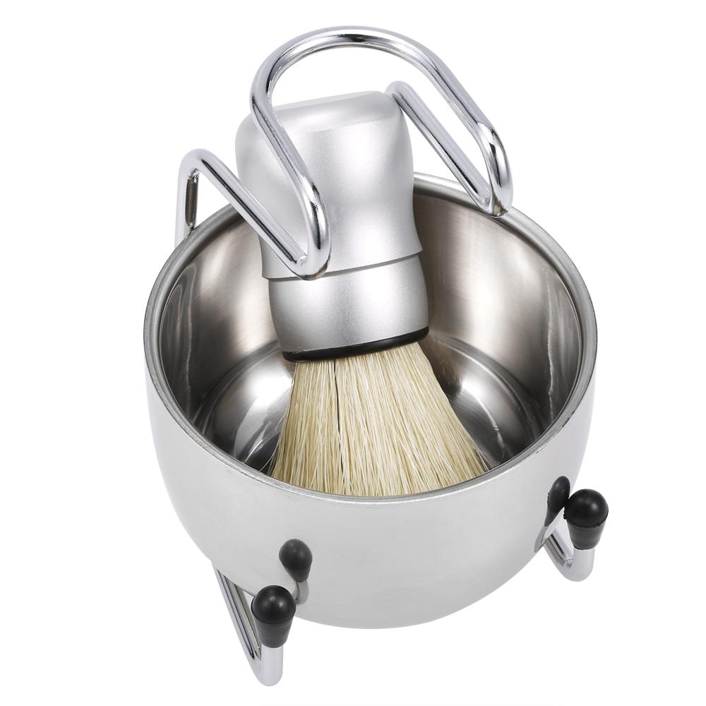3 in 1 Men's Shaving Brush Tool Set Well Polished Badger Hair Shaving Brush Soap Bowl Stand Holder Face Cleaning Shaver Tool 1