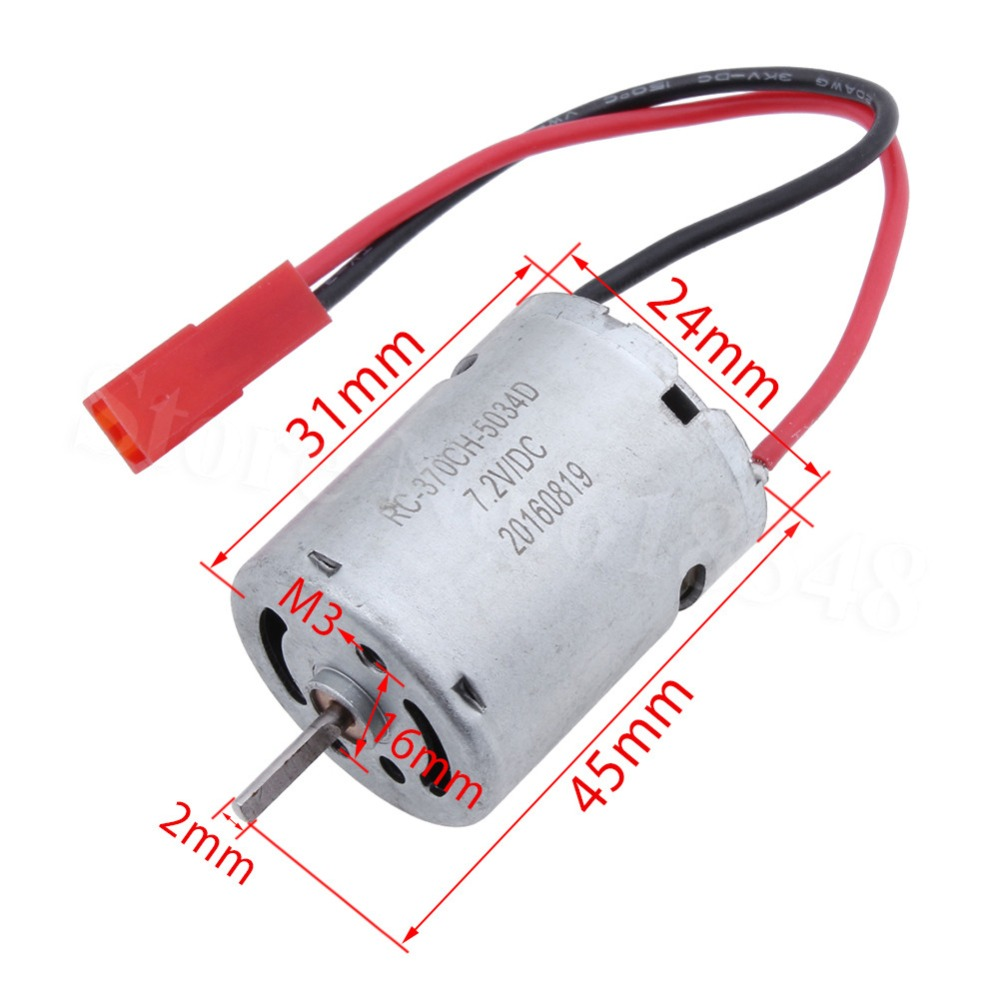 Rc Car Spare Parts 370 Series Rs370 Electric Engine Motor Input 5v Electrical Motors Basic Components Knowhow 72v 1 18 Scale Remote Control